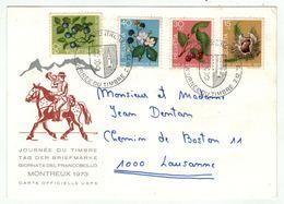 Suisse /Schweiz/Svizzera/Switzerland // Journée Du Timbre // 1973 //   Carte  Journée Du Timbre Montreux - Journée Du Timbre