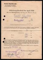 C3034 - Burkersdorf Kr. Dippoldiswalde - Ablieferungsschein Pflichtablieferung - Dokument Rechnung Quittung - Landwirtschaft