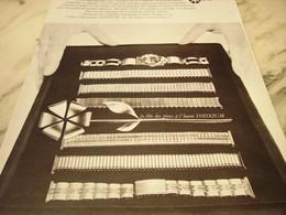 ANCIENNE PUBLICITE MONTRE INOXIUM 1965 - Bijoux & Horlogerie