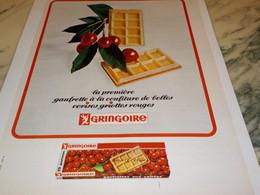 ANCIENNE PUBLICITE GAUFRETTE CERICE GRINGOIRE 1965 - Advertising