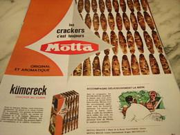 ANCIENNE PUBLICITE   APERITIF LES CRACKERS DE MOTTA 1965 - Affiches