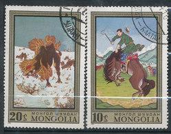 N° Yv 604/605 - Folklore Artisanat - Mongolie