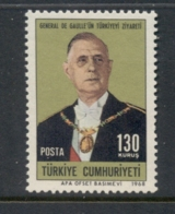Turkey 1968 Charles De Gaulle MUH - 1921-... Republic