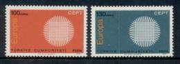 Turkey 1970 Europa MUH - Unused Stamps