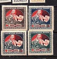 SURCHARGED 1920 Complete Set VF MNH!! Mi. 65-8 (36) - Latvia