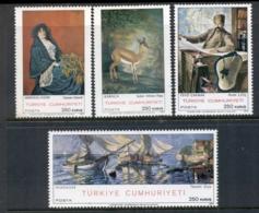 Turkey 1970 Paintings MUH - Unused Stamps