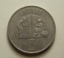 Equatorial Guinea 5 Ekuele 1975 - Guinée Equatoriale