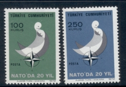 Turkey 1972 NATO Membership 20th Anniv. MUH - Unused Stamps