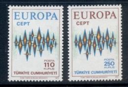 Turkey 1972 Europa MUH - Unused Stamps