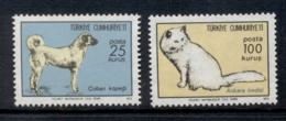 Turkey 1973 Cat & Dog MUH - 1921-... Republic