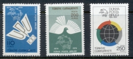 Turkey 1974 UPU Centenary Muh - 1921-... Republic