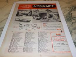ANCIENNE PUBLICITE TENTE VACANCE ANDRE JAMET 1965 - Advertising