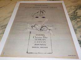 ANCIENNE PUBLICITE GRANDS NOMS GRANDS PARFUMS 1965 - Perfume & Beauty
