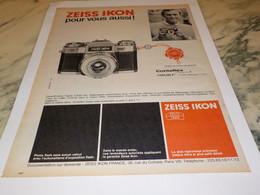 ANCIENNE PUBLICITE POUR VOUS AUSSI APPAREIL PHOTO ZEISS IKON 1965 - Photographie