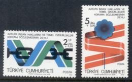 Turkey 1978 European Declaration Of Human Rights MUH - Unused Stamps