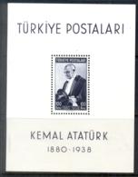 Turkey 1939-40 Death Of Kemal Ataturk 1st Anniv. MS MUH - 1921-... Republic