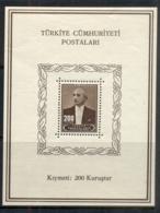 Turkey 1943 Pres. Inonu MS MUH - 1921-... Republic