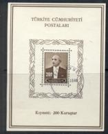Turkey 1943 Pres. Inonu MS FU - 1921-... Republic