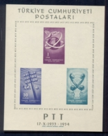 Turkey 1954 Dept. Of Post, Telephone & Telegraph MS MUH - 1921-... Republic