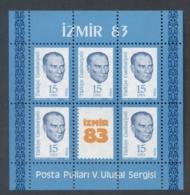 Turkey 1983 Kemal Ataturk , Izmir MS MUH - 1921-... Republic