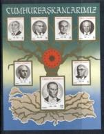 Turkey 1987 Ataturk, Presidents MS Muh - 1921-... Republic