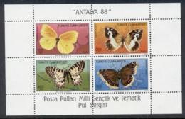 Turkey 1988 Insects, Butterflies, Antalya '88 MS - 1921-... Republic
