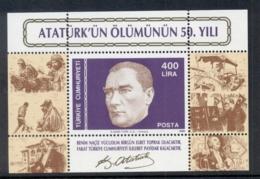 Turkey 1988 Kemal Ataturk MS MUH - Unused Stamps