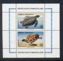 Turkey 1989 Marine Life Sea Turtles MS MUH - Unused Stamps