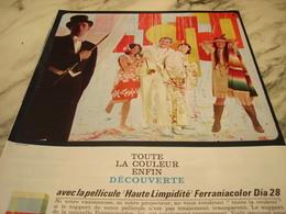 ANCIENNE PUBLICITE PHOTO COULEUR DIA 28 FERRANIA 1965 - Advertising
