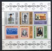Turkey 1981 Kemal Ataturk MS MUH - 1921-... Republic