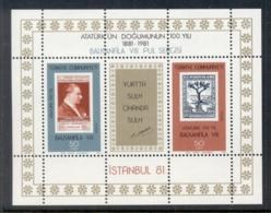 Turkey 1981 Istanbul '81, Ataturk MS MUH - Unused Stamps