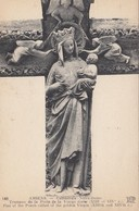 CP , 80 , AMIENS , Cathédrale Notre-Dame, Trumeau De La Porte De La Vierge Dorée (XIIIe Et XIVe S.) - Amiens