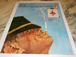 ANCIENNE PUBLICITE CIGARETTE DETENTE  HB 1965 - Tabac (objets Liés)