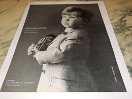 ANCIENNE PUBLICITE POUR QUI PARFUM  LANVIN  1966 - Advertising