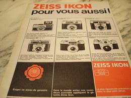 ANCIENNE PUBLICITE POUR VOUS AUSSI APPAREIL PHOTO ZEISS IKON 1968 - Advertising
