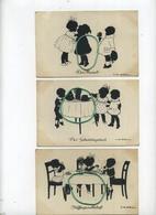 5 CARTES CARDS SILHOUET SILHOUETTE : Künstler-AK Ov. Alt-Stutterheim ( See Scan For Detail ) Serie 584 - Silhouettes