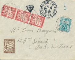 VERSAILLES - 1943 , Brief Nach St. Cloud - Mit Nachporto - Frankreich