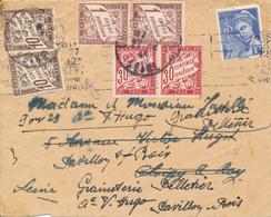 PAVILLONS Sur BOIS  - 1943 , Brief  2x Nachgesendet  - Mit Nachporto - Frankreich