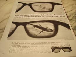 ANCIENNE   PUBLICITE LUNETTE POLAROID  1965 - Habits & Linge D'époque