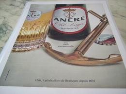 ANCIENNE PUBLICITE BIERE  ANCRE PILS 1965 - Advertising