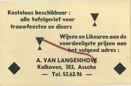 Asse :  A. Van Langenhove  (  Wijnen En Likeuren )  Zie Scan Voor Detail - Asse