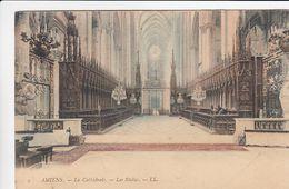CP , 80 , AMIENS , La Cathédrale, Les Stalles - Amiens