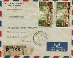 DAKAR / Senegal - 1959 , Afrique Occidentale Francaise - R-Brief Nach Cuxhaven - Senegal (1960-...)