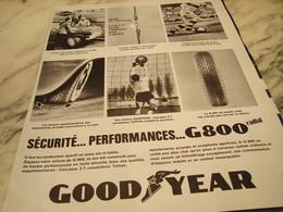 ANCIENNE PUBLICITE PNEU G 800 DE GOODYEAR  1964 - Advertising