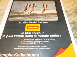 ANCIENNE PUBLICITE KODACHROME DE KODAK 1965 - Photographie
