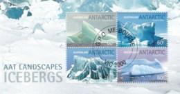 Australian Antarctic 2011 Icebergs Minisheet CTO - Australian Antarctic Territory (AAT)