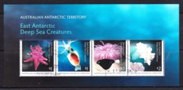 Australian Antarctic 2017 Deep Sea Creatures Minisheet CTO - Australian Antarctic Territory (AAT)