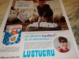 ANCIENNE PUBLICITE PATES LUSTUCRU 1965 - Affiches