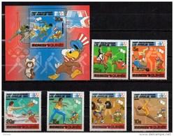 GUINEA 1984 SPORT, OLYMPIC GAMES MNH MI. 927 - 32 BL. 51 - Ete 1984: Los Angeles