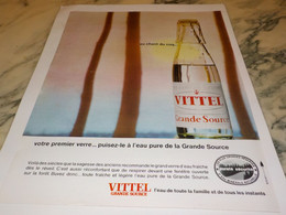 ANCIENNE PUBLICITE AU CHANT DU COQ  VITTEL 1965 - Affiches